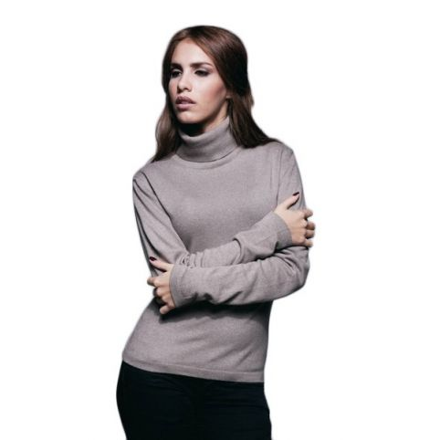 PULL CACHEMIRE COL ROULE CINTRE