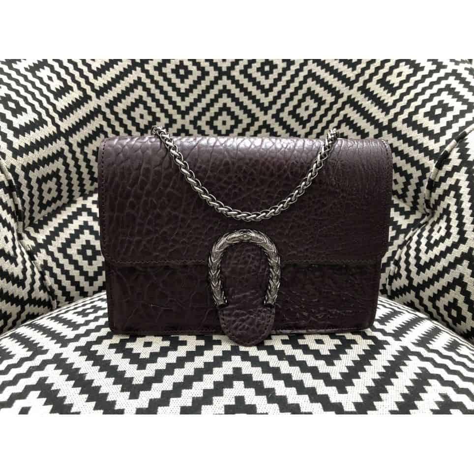 Mini sac en cuir avec chaîne