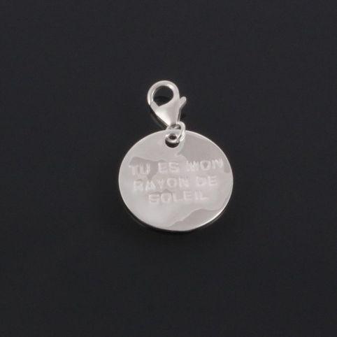 Charms Médaille message
